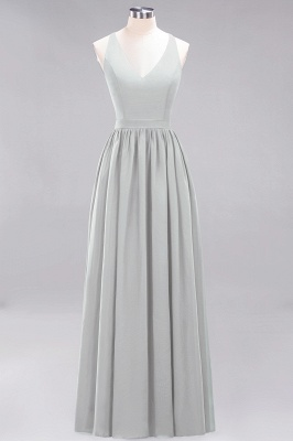 | A-Line Chiffon Lace V-Neck Sleeveless Straps Floor-Length Bridesmaid Dresses_29
