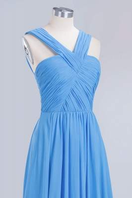 Elegant A-Line Chiffon Straps Sleeveless Ruffles Floor-Length Bridesmaid Dresses_12