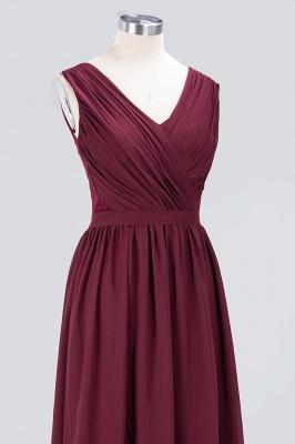 Elegant Princess Chiffon Lace V-Neck Sleeveless Floor-Length Bridesmaid Dress with Ruffles_5