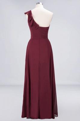Elegant Princess Chiffon One-Shoulder Sweetheart Sleeveless Floor-Length Bridesmaid Dress with Ruffles_2