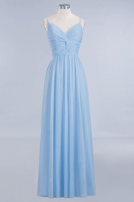 Chiffon V-Neck Spaghetti Straps Floor-Length Bridesmaid Dresses_7