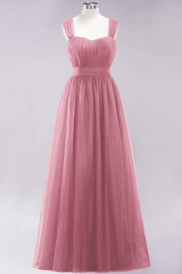 Chiffon Sweetheart Straps Sleeves Floor-Length Bridesmaid Dresses with Ruffles_37