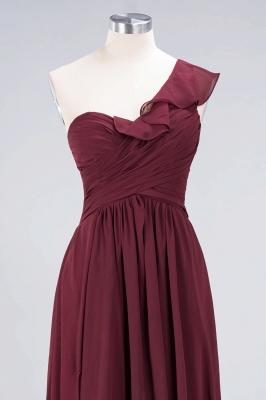 Elegant Princess Chiffon One-Shoulder Sweetheart Sleeveless Floor-Length Bridesmaid Dress with Ruffles_4