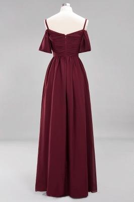 Chiffon V-Neck Spaghetti Straps Short-Sleeves Floor-Length Bridesmaid Dresses with Ruffles_9