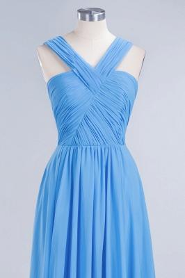 Elegant A-Line Chiffon Straps Sleeveless Ruffles Floor-Length Bridesmaid Dresses_10
