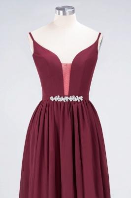 Elegant Princess Chiffon Appliques Spaghetti-Straps Deep-V-Neck Sleeveless Floor-Length Bridesmaid Dress with Ruffles_4