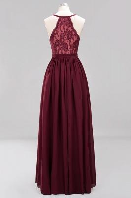 | A-Line Chiffon Lace V-Neck Sleeveless Straps Floor-Length Bridesmaid Dresses_43