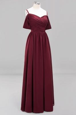 Chiffon V-Neck Spaghetti Straps Short-Sleeves Floor-Length Bridesmaid Dresses with Ruffles_10
