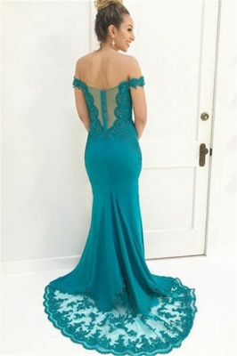 Charming Off-the-Shoulder Appliques Sleeveless Beading Floor-Length Prom Dress_2