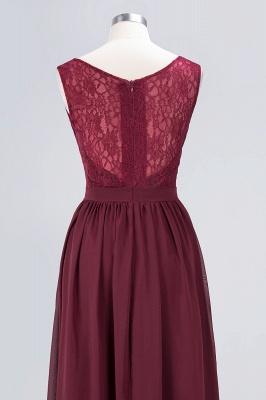 Elegant Princess Chiffon Lace V-Neck Sleeveless Floor-Length Bridesmaid Dress with Ruffles_6