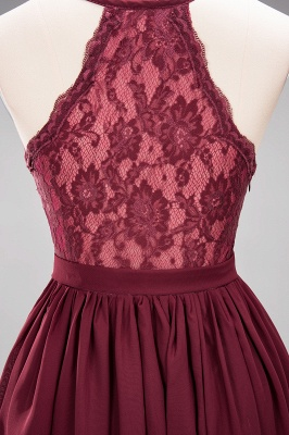 | A-Line Chiffon Lace V-Neck Sleeveless Straps Floor-Length Bridesmaid Dresses_48