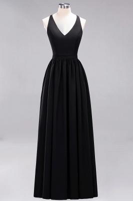 | A-Line Chiffon Lace V-Neck Sleeveless Straps Floor-Length Bridesmaid Dresses_28