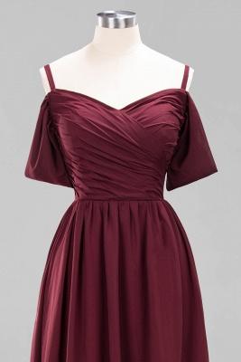 Chiffon V-Neck Spaghetti Straps Short-Sleeves Floor-Length Bridesmaid Dresses with Ruffles_11