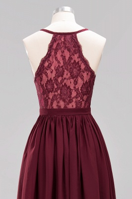 | A-Line Chiffon Lace V-Neck Sleeveless Straps Floor-Length Bridesmaid Dresses_47