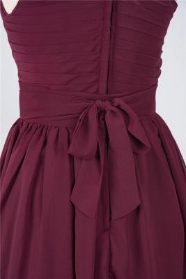 Elegant Princess Chiffon One-Shoulder Sleeveless Knee-Length Bridesmaid Dress with Ruffles_5
