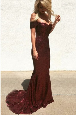 Charming Off-the-Shoulder Sweetheart Sleeveless Mermaid Floor-Length Prom Dress_2