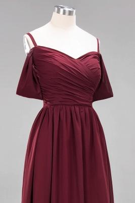 Chiffon V-Neck Spaghetti Straps Short-Sleeves Floor-Length Bridesmaid Dresses with Ruffles_12