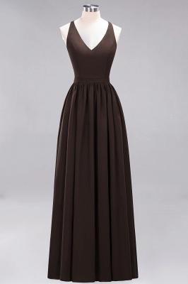 | A-Line Chiffon Lace V-Neck Sleeveless Straps Floor-Length Bridesmaid Dresses_11