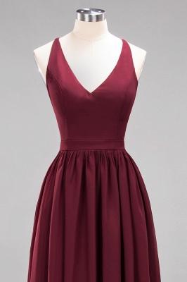| A-Line Chiffon Lace V-Neck Sleeveless Straps Floor-Length Bridesmaid Dresses_45