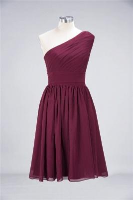 Elegant Princess Chiffon One-Shoulder Sleeveless Knee-Length Bridesmaid Dress with Ruffles_2