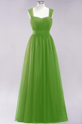 Chiffon Sweetheart Straps Sleeves Floor-Length Bridesmaid Dresses with Ruffles_32