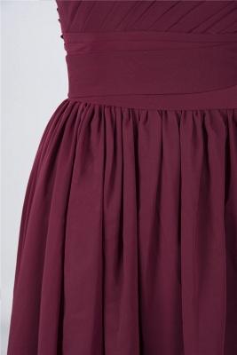 Elegant Princess Chiffon One-Shoulder Sleeveless Knee-Length Bridesmaid Dress with Ruffles_6