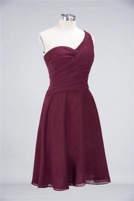 Elegant Princess Chiffon One-Shoulder Sweetheart Sleeveless Knee-Length Bridesmaid Dress with Ruffles_37