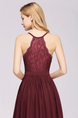 | A-Line Chiffon Lace V-Neck Sleeveless Straps Floor-Length Bridesmaid Dresses_41