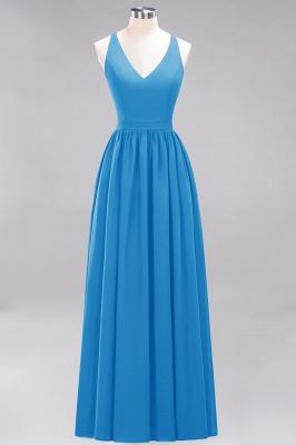 | A-Line Chiffon Lace V-Neck Sleeveless Straps Floor-Length Bridesmaid Dresses_24