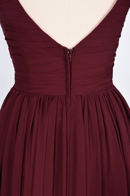 Elegant Princess Chiffon Straps V-Neck Sleeveless Backless Floor-Length Bridesmaid Dress with Ruffles_8