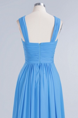 Elegant A-Line Chiffon Straps Sleeveless Ruffles Floor-Length Bridesmaid Dresses_11
