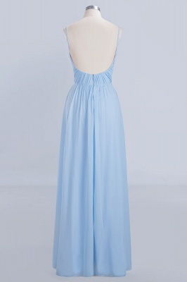 Chiffon V-Neck Spaghetti Straps Floor-Length Bridesmaid Dresses_8