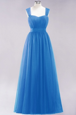 Chiffon Sweetheart Straps Sleeves Floor-Length Bridesmaid Dresses with Ruffles_24