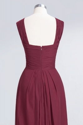 Elegant Princess Chiffon V-Neck Straps Sleeveless Floor-Length Bridesmaid Dress with Ruffles_6