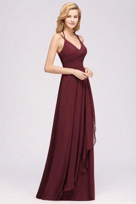A-line Chiffon Spaghetti Straps Sleeveless Ruffles Floor-Length Bridesmaid Dresses_25