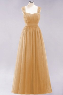 Chiffon Sweetheart Straps Sleeves Floor-Length Bridesmaid Dresses with Ruffles_13