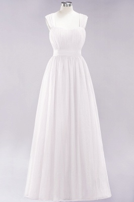 Chiffon Sweetheart Straps Sleeves Floor-Length Bridesmaid Dresses with Ruffles_1