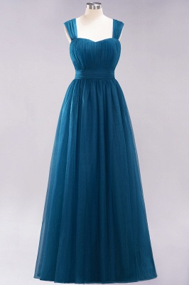 Chiffon Sweetheart Straps Sleeves Floor-Length Bridesmaid Dresses with Ruffles_26