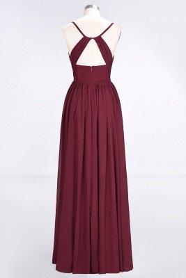 Elegant Princess Chiffon Spaghetti-Straps V-Neck Sleeveless Floor-Length Bridesmaid Dress with Ruffles_2