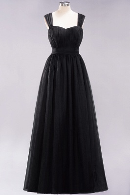 Chiffon Sweetheart Straps Sleeves Floor-Length Bridesmaid Dresses with Ruffles_28