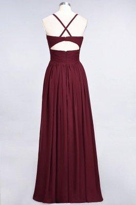 Elegant Princess Chiffon Spaghetti-Straps V-Neck Sleeveless Floor-Length Bridesmaid Dress with Ruffles_36