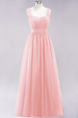 Chiffon Sweetheart Straps Sleeves Floor-Length Bridesmaid Dresses with Ruffles_5