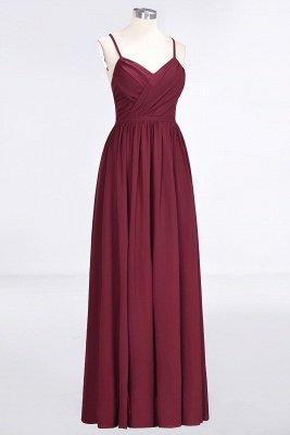 Elegant Princess Chiffon Spaghetti-Straps V-Neck Sleeveless Floor-Length Bridesmaid Dress with Ruffles_3
