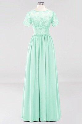 A-line Chiffon Lace Jewel Short-Sleeves Floor-length Bridesmaid Dress_34