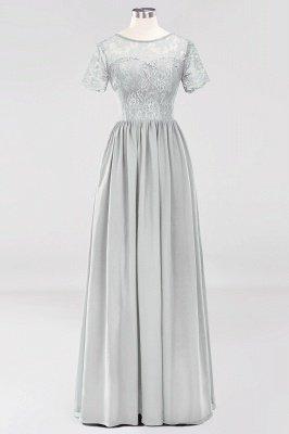 A-line Chiffon Lace Jewel Short-Sleeves Floor-length Bridesmaid Dress_29