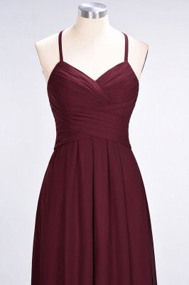 Elegant Princess Chiffon Halter V-Neck Sleeveless Floor-Length Bridesmaid Dress with Ruffles_5