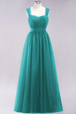 Chiffon Sweetheart Straps Sleeves Floor-Length Bridesmaid Dresses with Ruffles_41