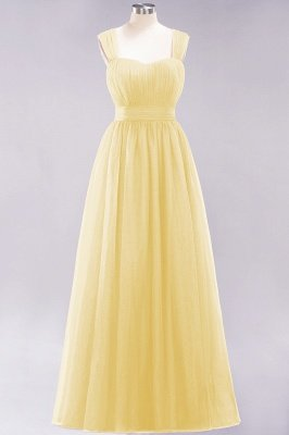 Chiffon Sweetheart Straps Sleeves Floor-Length Bridesmaid Dresses with Ruffles_17