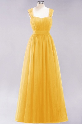 Chiffon Sweetheart Straps Sleeves Floor-Length Bridesmaid Dresses with Ruffles_16