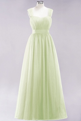 Chiffon Sweetheart Straps Sleeves Floor-Length Bridesmaid Dresses with Ruffles_33